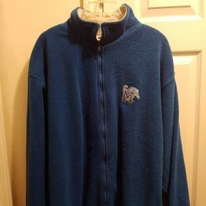 Memphis Tigers Men's Blue Zip-Up Fleece Jacket